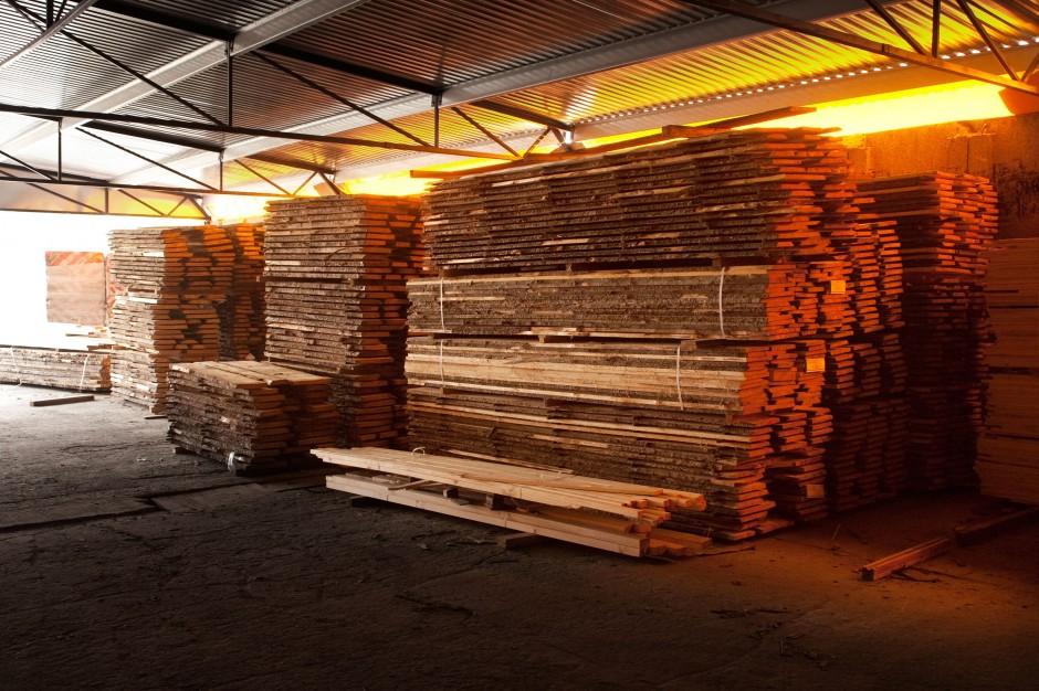 Składowanie drewna - Megiw