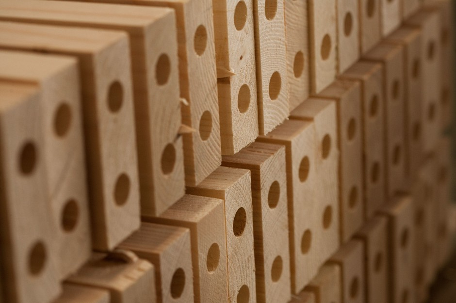 Drewniane elementy sauny